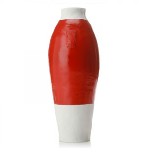 Red/White Vase by Hella Jongerius